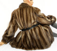Super soft muskrat fur jacket velvety like mink fur jacket muskrat