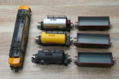 Lima H0 - 208024 - Electric locomotive Series 1200 of the NS with 6 wagons NS/DB