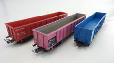 Sachsen Modelle H0 - 16064/16065/16066 - Set of 3 Eanos carriages of the NS and SBB
