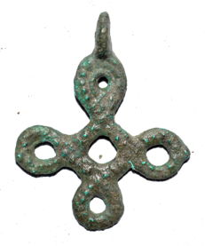 Medieval Period - Viking Open-Work Interlaced Cross Pendant - 39x31 mm