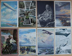 Lot of 240 AK from the 1st World War - soldiers zeppelin Patriotika lot