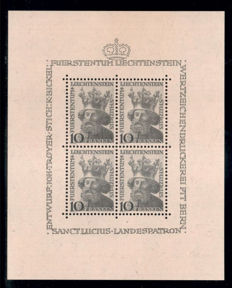 Liechtenstein: 1932/1960 - collection, postal stamps, sets and blocks from Michel 116/401