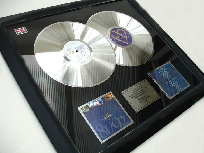 "Simple Minds ""Glittering Prize 81/92. 2x platinum"