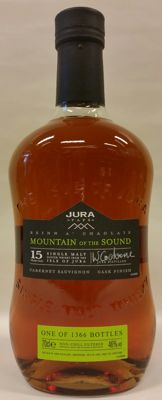 "Jura 15 years old ""Mountain of the Music"" (paps serie) # Cabernet Sauvignon Cask Finish # only 1366 bottles # bottled 2009"
