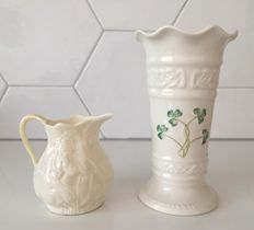 Belleek - Two porcelain items