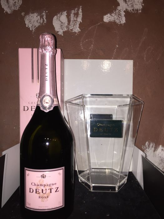 Champagne Deutz Rose - Non vintage - 1 magnum (150cl) with champagne bucket