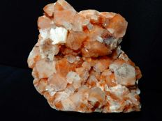 Unusual red spotted Apophyllite crystal cluster with Stilbite - 18 x  14 cm - 1383 gm