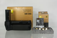 Nikon Battery grip MB-D80 with Nikon EN-EL3e Lion Battery (2594)