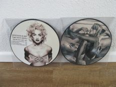 Madonna - Lot of  2 picture discs: Give Me All Your Luvin' (Part 3) + HMV Oxford Circus La Cantine du Faubourg