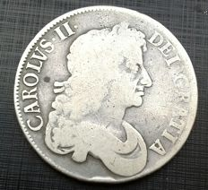 United Kingdom - Crown - 1677/6 - King Charles II third bust