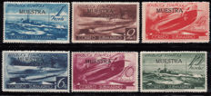 "Spain 1938 – Submarine mail, complete series with overprint ""MUESTRA"" – Edifil 775/780"