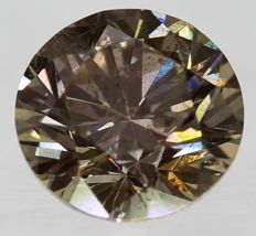 Diamond 0.50 Carat Natural Fancy Vivid Brown VS2 Clarity - DG1835 - NO RESERVE PRICE
