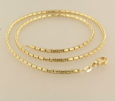 14 kt yellow gold fantasy link necklace – 43.5 cm long