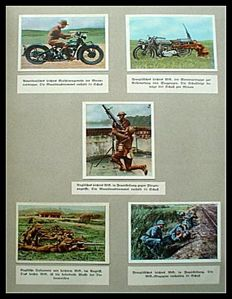 Picture card album; Lot with three books on the inter-war period and the rearmament- 1934/1935