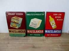 Enamel advertising sign Waeslandia - ca. 1940/50s
