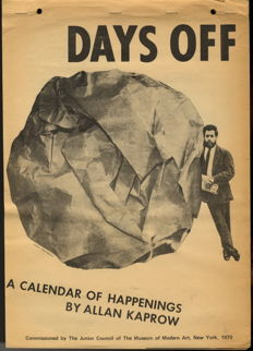 Allan Kaprow - Days Off: A Calendar of Happenings - 1970
