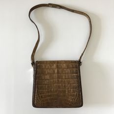 Vintage Real Crocodile Leather – Small Shoulder Bag ***No minimum price***