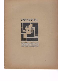 Theo Van Doesburg (ed.) - De Stijl - 2nd volume, issue 5 - 1919