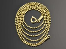 "18k Gold Necklace. Chain ""Bead"" - 55 cm. No reserve price."