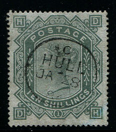 Great Britain 1867/1883 - Queen Victoria - 10 shillings grey-green - Stanley Gibbons 135