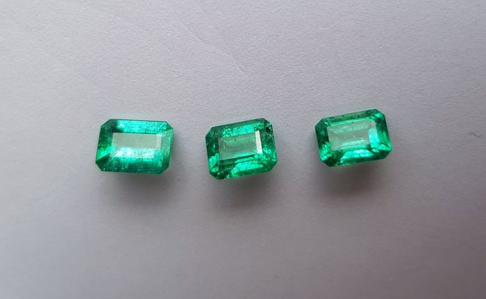 Lot Intense Green Emeralds - 3.14 ct