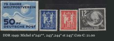 Eastern Germany: DDR 1949-1953: collection of mint stamps, Michel 242 to 422.