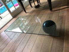 Fiam Italia, crystal glass coffee table