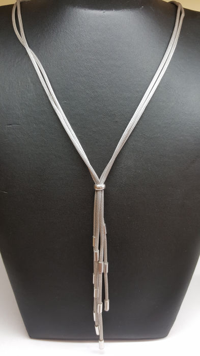 925 silver, vintage, women's necklace, handmade, length: 70 cm. No reserve!!