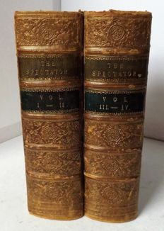 The Spectator [Richard Steel et.al] - Four volumes bound in Two volumes - 1860.