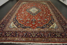 Heavenly beautiful fine Persian palace carpet Kashan Keshan finest cork wool made in Iran 290x390cm cleaned