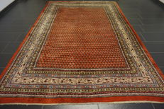 Magnificent hand-knotted Persian carpet Sarouk Mir 220X320 cm Made in Iran top quality highland wool circa 1970/1980