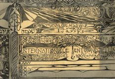 Lion Cachet - Wendingen 1919, nr 7/8: Diploma for the International Exhibition for the Book Trade and Related Professions in Amsterdam - 1919