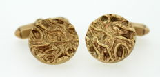 Vintage 9k yellow gold cufflinks, London 1977, posibly by Kutchinsky