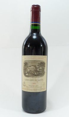 1992 Carruades de Lafite, Pauillac, 2nd wine Chateau Lafite Rothschild - 1 bottle (75cl)