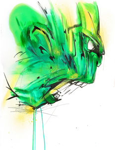 Original Acrylic Painting - The Hulk By Urban Street Artist ANTISTATIK