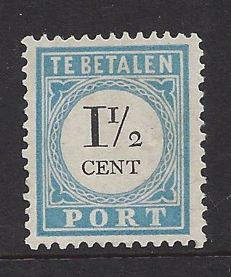 The Netherlands 1887 - Postage due and value black - NVPH P4B, type I
