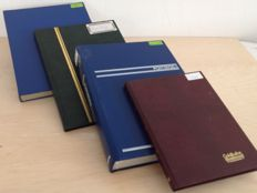 Luxemburg, Liechtenstein and Belgium 1870/2007 - Batch in 4 stock books