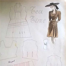 Fashion; Coupe et couture école Lorent Anvers - 1947