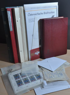 Austria - Batch from classic onwards in a stock book and on sheets