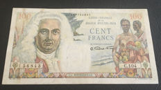 French Equatorial Africa - 100 Francs 1947 - Pick 24