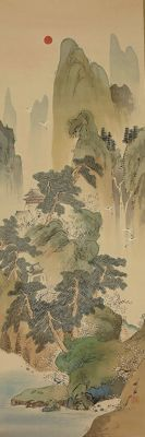 Ideal Chinese landscape - Otake Chikuha 尾竹竹坡 (1878 - 1936) - Japan - early 20th century