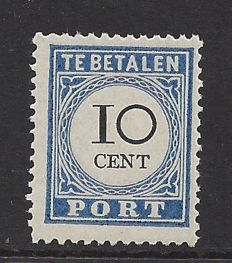 The Netherlands 1894 - Postage due and value black, type III - NVPH P22a