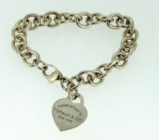 "Tiffany & Co. - ""Return to Tiffany"" Sterling silver ladies bracelet, London 2008 - Length : 18.5 cm"