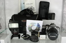 Canon 300D with Canon EFS 18-55mm f3.5-5.6 and a Canon Speedlite 420EX and accessories (2598)