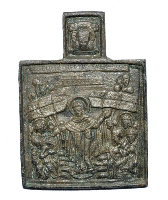 Bronze icon depicting Resurrection of Jesus Christ - 60 mm