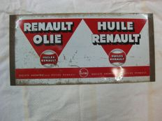 Renault oil advertising sign