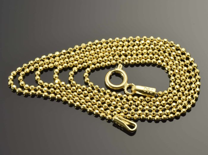"""18k Gold Necklace. Chain """"Beads"""" - 55 cm. Weight 3.43 g."""