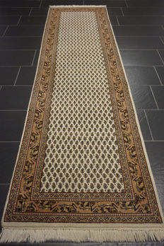 Magnificent hand-knotted oriental carpet Sarouk Mir rug 80 x 300 cm, made in Iran rug gallery Tappeto Tapis Tapijt carpet