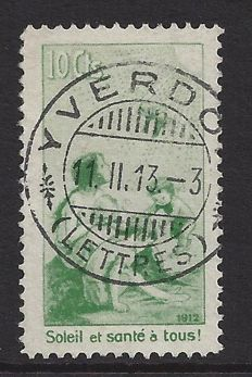 Switzerland 1912 - Pro Juventute - Precursor with French text - Michel II