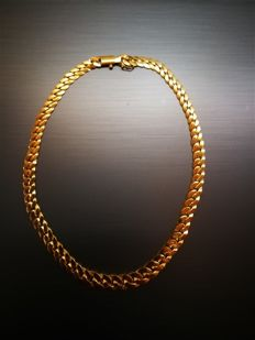 Choker necklace in 18 kt gold